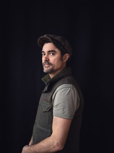 Brian Jackson, portrait, color, colour, portraiture, man, dude, vest, black, hat, style