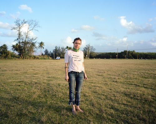 Maria, Havana, Cuba, Travel, Tourism, Girl, Woman, portrait, field, sunset, jeans, blue sky, kodak, film, color film