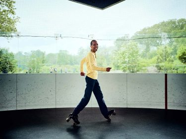Crazy Legs, LeFrak center, rollerskating, dancing, rollerrink, brooklyn, new york, 6x7, film, color, kodak